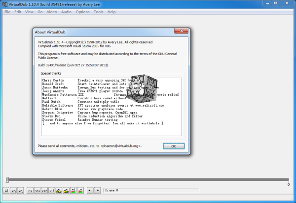 VirtualDub(视频处理工具)V1.10.4 官方版